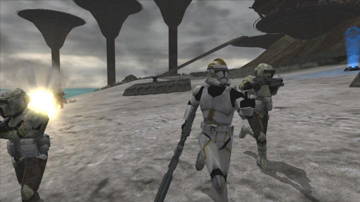 2005 yılında yayınlanan Lucasarts tarafından yapılan Star Wars Battlefront 2 oyun içinden bir görsel