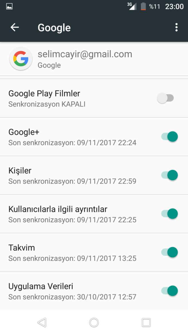 telefon rehberi google kayıt